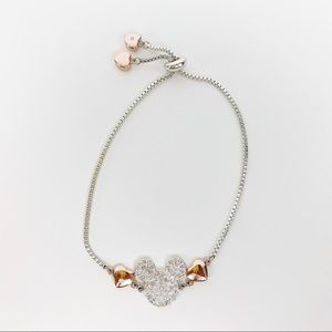 Mickey Mouse Bracelet Silver Rose Gold Adjustable